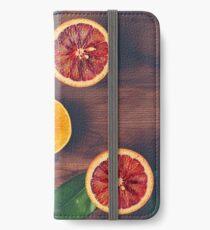 Stillleben mit reifen saftigen Zitrusfrüchten iPhone Flip-Case/Hülle/Klebefolie