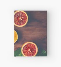 Still Life with Ripe Juicy Citrus Fruits Hardcover Journal