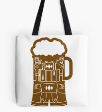 cool lederhose costume suit beer pitcher drinking drinking party celebrate drinking alcohol symbol cool shirt oktoberfest Tote Bag