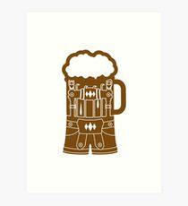 cool lederhose costume suit beer pitcher drinking drinking party celebrate drinking alcohol symbol cool shirt oktoberfest Art Print