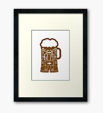 cool lederhose costume suit beer pitcher drinking drinking party celebrate drinking alcohol symbol cool shirt oktoberfest Framed Print