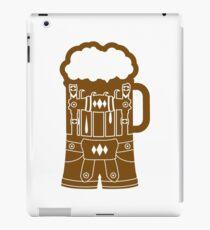 cool lederhose costume suit beer pitcher drinking drinking party celebrate drinking alcohol symbol cool shirt oktoberfest iPad Case/Skin