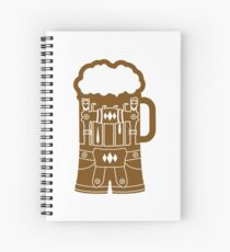 cool lederhose costume suit beer pitcher drinking drinking party celebrate drinking alcohol symbol cool shirt oktoberfest Spiral Notebook