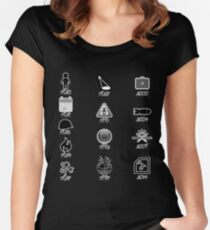 U2 discography icons Women's Fitted Scoop T-Shirt