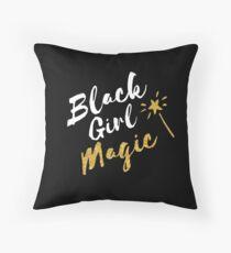 Schwarze Mädchen Magie Dekokissen