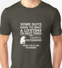 My Favorite Photographer Calls Me Grandma Unisex T-Shirt