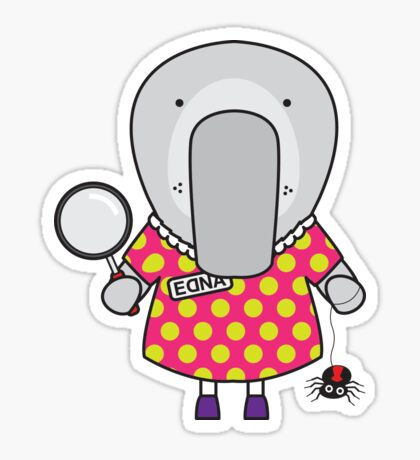 Edna the Entomologist Elephant Seal Sticker