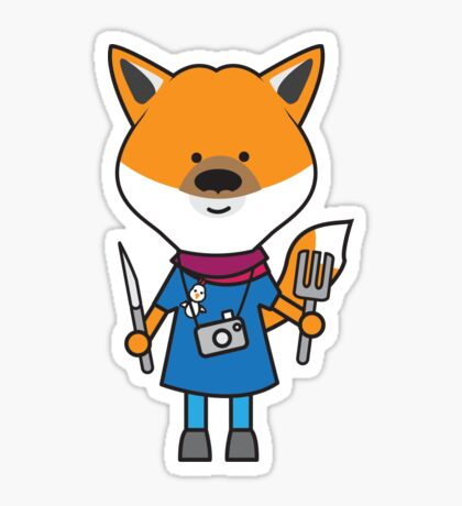 Fiona the Foodie Fox Sticker