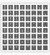 I Ching hexagrams Sticker