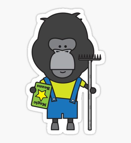 Gloria the Gorilla Gardener Sticker