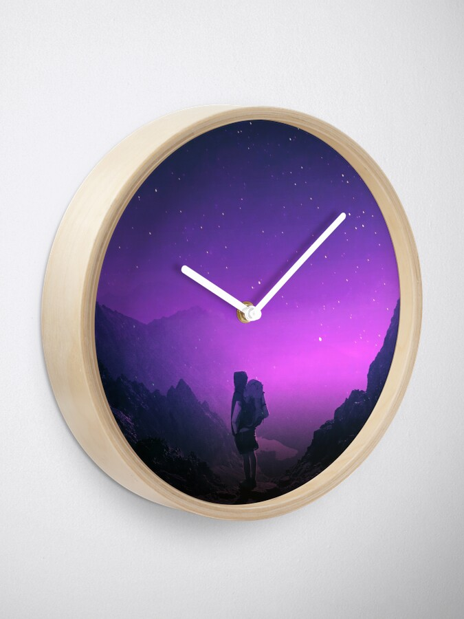 Alternate view of Not all those who wander are lost Clock