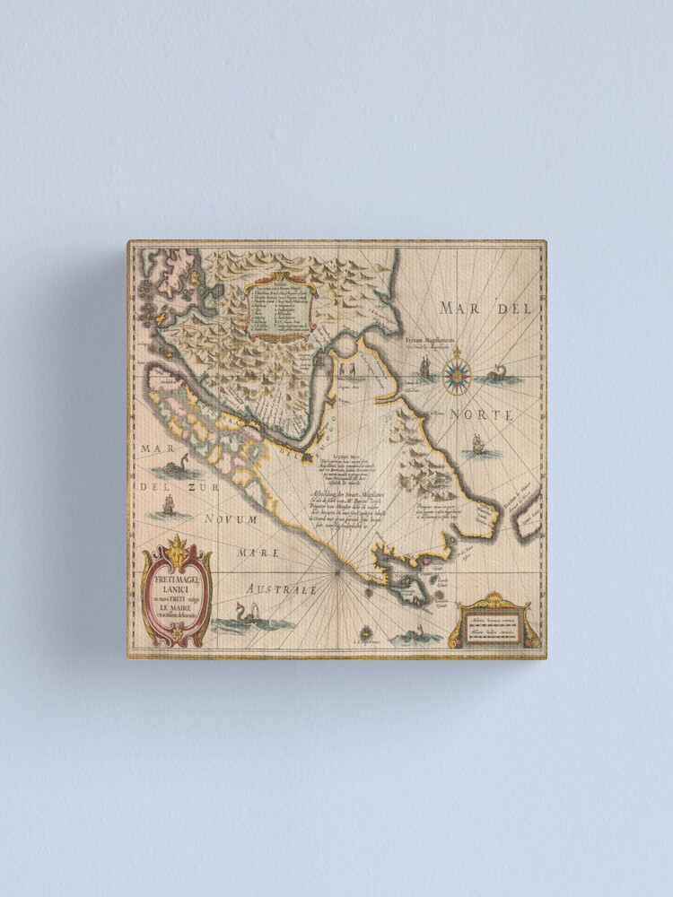 Alternate view of Old map 4 Canvas Print