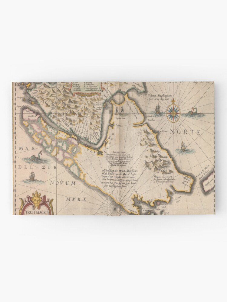 Alternate view of Old map 4 Hardcover Journal