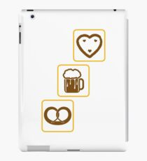 cool design drinking team pretzels beer pitcher drinking drinking party celebrate gingerbread heart pitcher fun eating hunger drinking alcohol symbol cool shirt oktoberfest iPad Case/Skin