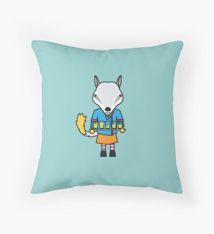 Naomi the Numbat Nutritionist Throw Pillow