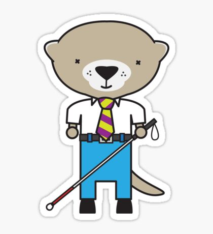 Oliver the Optometrist Otter Sticker