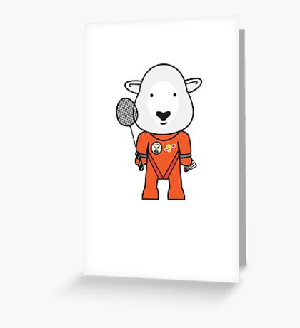 Sandra the Shuttle Commander Sheep Greeting Card