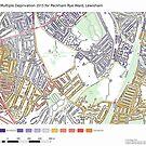Multiple Deprivation Peckham Rye ward, Lewisham  by ianturton