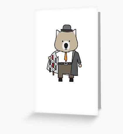 Warren the Watch Salesman Wombat Greeting Card