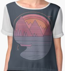 The Mountains Are Calling Women's Chiffon Top
