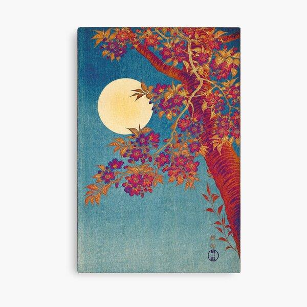 Ohara Koson, Modern Blossoming Cherry on a Moonlit Night (1932) palate swap Canvas Print
