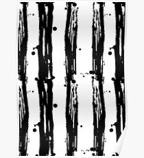 Seamless pattern stripes black and white  Poster