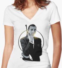 James Bond Women's Fitted V-Neck T-Shirt