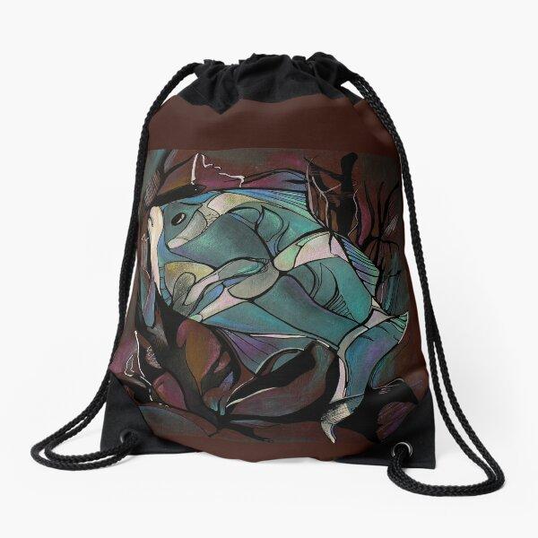 NEON FISH  Drawstring Bag