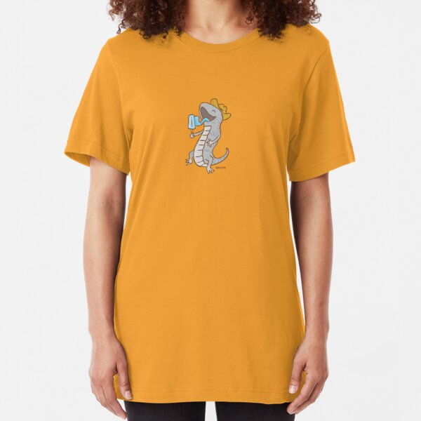 Aussie Blue-Tongued Lizard Slim Fit T-Shirt