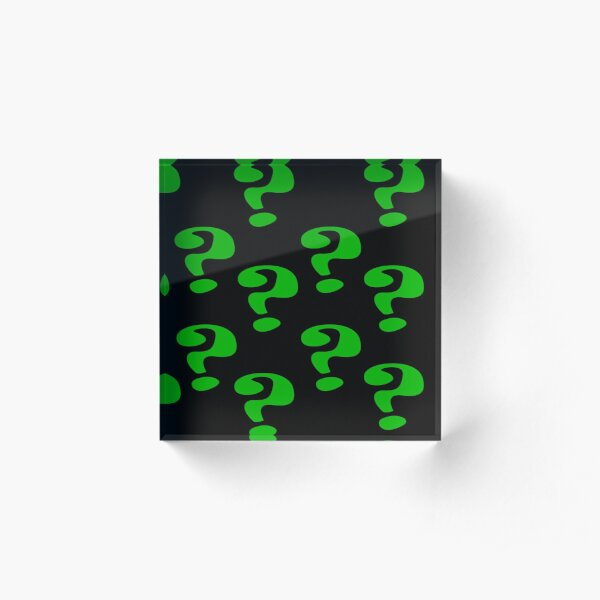 Riddler Question marks Acrylic Block