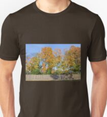 Autumn Trees Behind the Fence T-Shirt