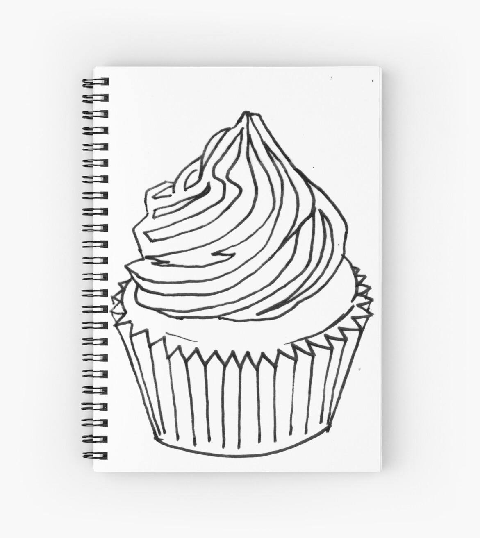 Cuadernos de espiral «Página para colorear de Cupcake 2» de ...