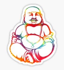 Tie-Dye Buddha Sticker