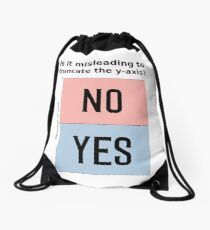 Is it misleading to truncate the y-axis? Funny Chart Drawstring Bag