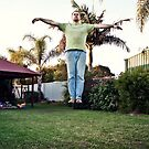 levitating in the back yard by Martin Pot