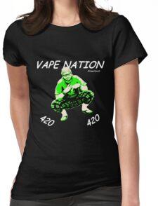 Vape Nation Fresh White 100% Organic Plastic Tee - ONE:Print Womens Fitted T-Shirt