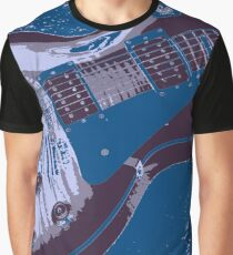 Les Paul Artwork - Blue Graphic T-Shirt
