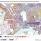 Multiple Deprivation Ravenscourt Park ward, Hammersmith & Fulham by ianturton