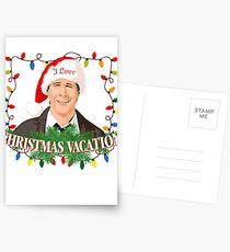 I Love Christmas Vacation Postcards