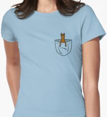 Pocket Llama Tailliertes T-Shirt