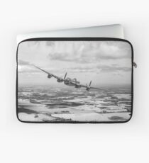 Home stretch: Lancaster over England, B&W version Laptop Sleeve