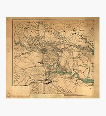Civil War Map of Richmond and Petersburgh (1864) Photographic Print