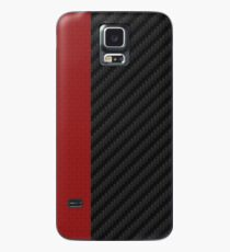 carbon fiber Red mixmatch Case/Skin for Samsung Galaxy