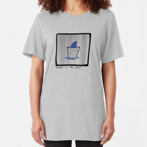 Shark in the pail Slim Fit T-Shirt