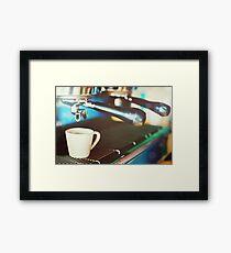 Coffee machine making espresso Framed Print