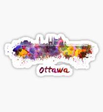 Ottawa V2 skyline in watercolor Sticker