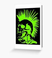Skull Punk Greeting Card