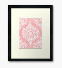 Marshmallow Lace Framed Print