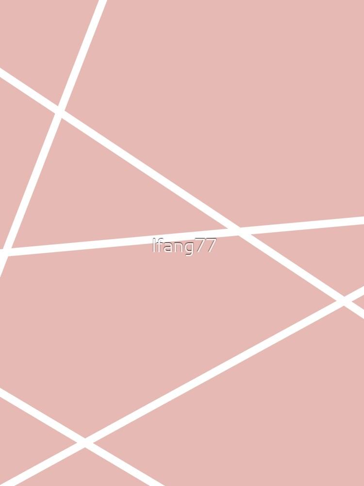 minimale Chic Blush rosa weiße Linien rosa geometrisches Muster von lfang77