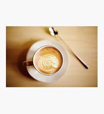Latte coffee art Photographic Print
